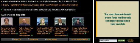 Bloomberg com propaganda em PT