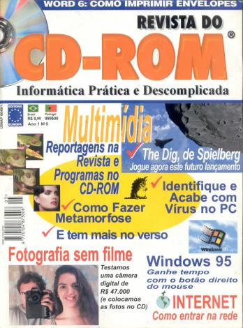 Capa da Revista do CDROM, 1º ano, nº 5