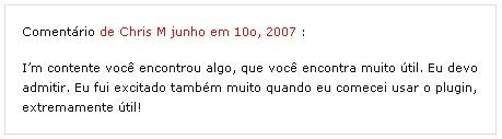 Comentário em português