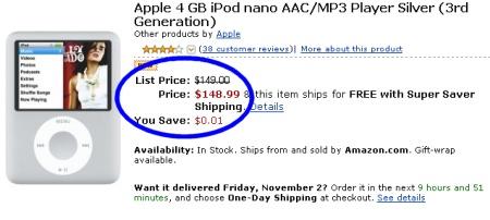 Ipod Nano na amazon