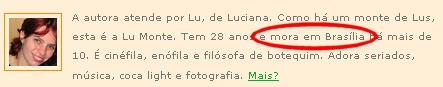 Identifique-se: Lu Monte