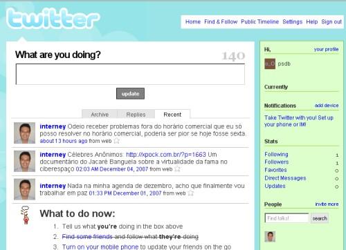 Interney no Twitter