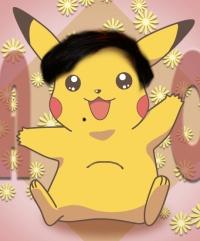 Pikachu cabeludo e pançudo
