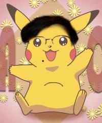 Pikachu com óculos