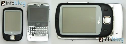 HTC Touch X Moto Q - Tamanho