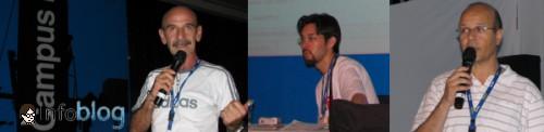 """Fábio Paiva, Maurício Kann e Marcel Benedeti na palestra """"Blogueiros pelo direito dos animais"""""""