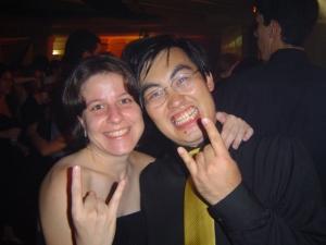 Renata e Jonny na formatura