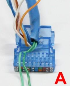 colocando os cabos