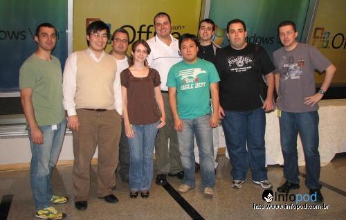 Blogueiros e o pessoal da Microsoft