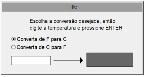 Exemplo 1 de conversor de temperaturas