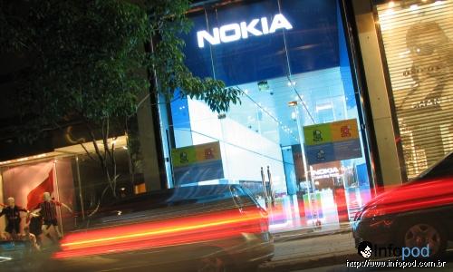 Nova loja da Nokia, na rua Oscar Freire, SP