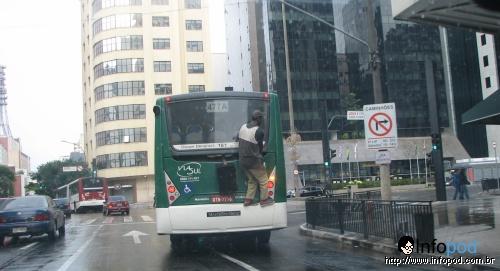 Carona entrando na Av. Paulista