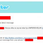 E começou a dispersão de vírus pelo Twitter