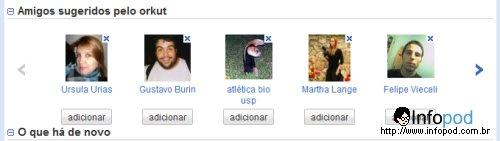 teste o novo orkut 2 - indicacao de amizade
