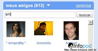 teste o novo orkut 3 - search busca dos meus amigos