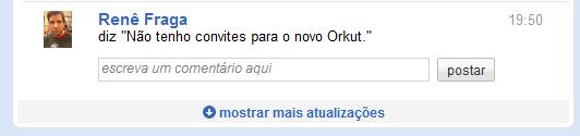 teste o novo orkut 5- mais atualizacoes