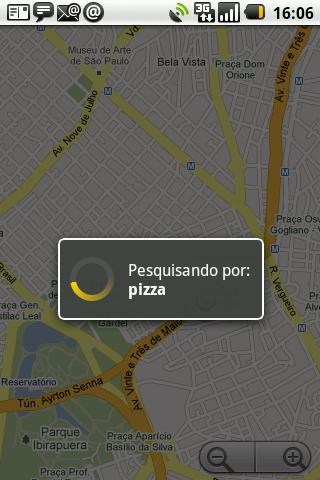 GPS android Pizza procurando