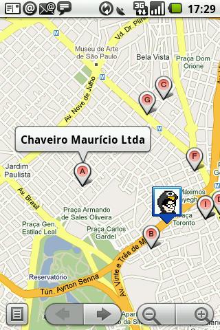 GPS android chaveiro